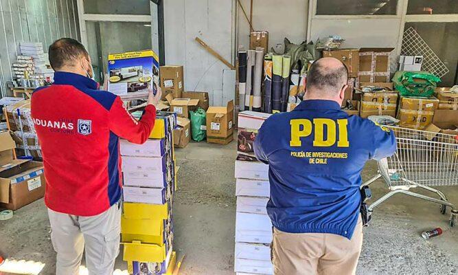PDI y Aduanas incautaron alimentos chinos, parches para..